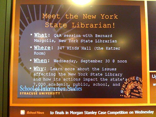Promo for the State Librarian's visit