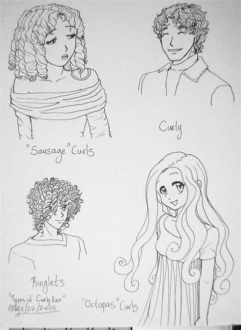 types  curly hair  threshie  deviantart