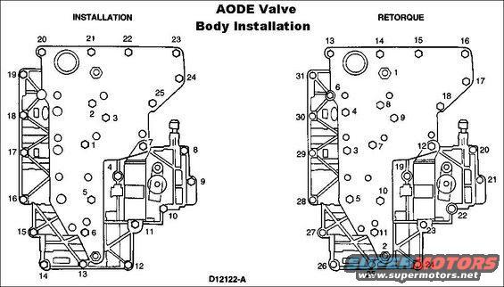 31 Aod Valve Body Diagram