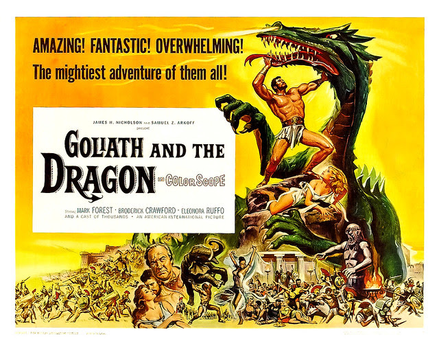 Reynold Brown - Goliath and the Dragon (American International, 1960) half sheet
