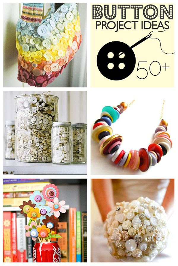 Over 50 Button Crafts to Make @savedbyloves #buttoncrafts #buttonjewelry #diy