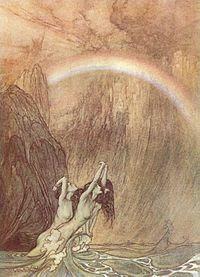 Bifröst by Arthur Rackham.