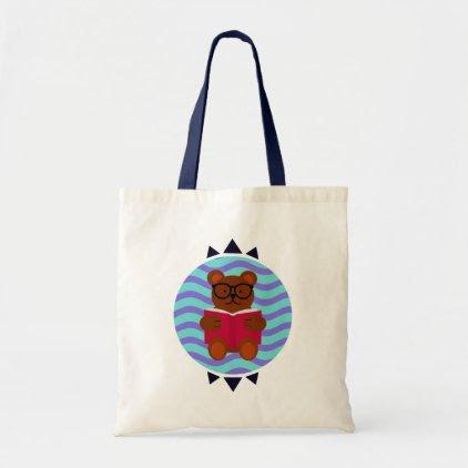 Nerd Bear Tote Bag