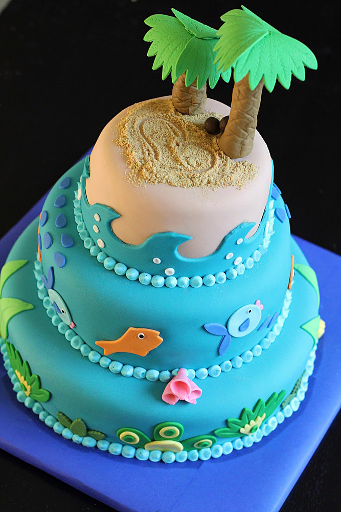 wedding cake toppers: Beach Theme Wedding Cake Toppers