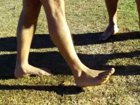 Correr descalço?