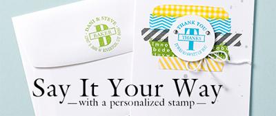 #PersonalizedStamp #dostamping #stampinup, Circle Monogram Stamp