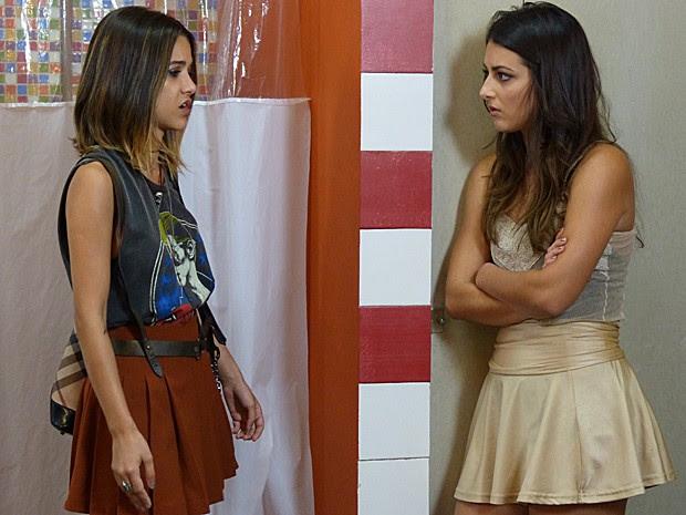 Jade fica desmaiada ao descobrir segredo de Bianca e Pedro. Vai dar ruim! (Foto: Gshow)