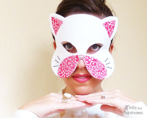 Cat Mask Pattern Set Cotton Felt Appliques copy