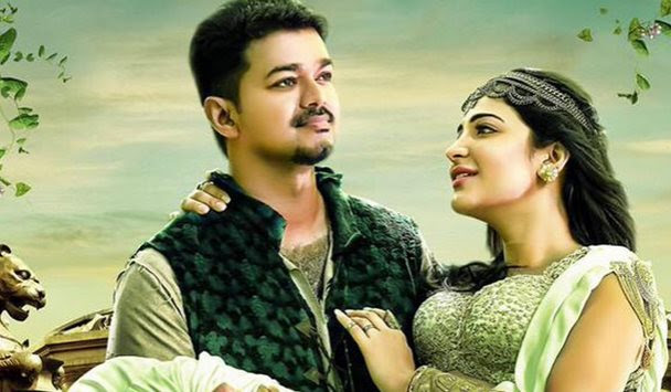 Vijay watches 'Puli' with family, friends