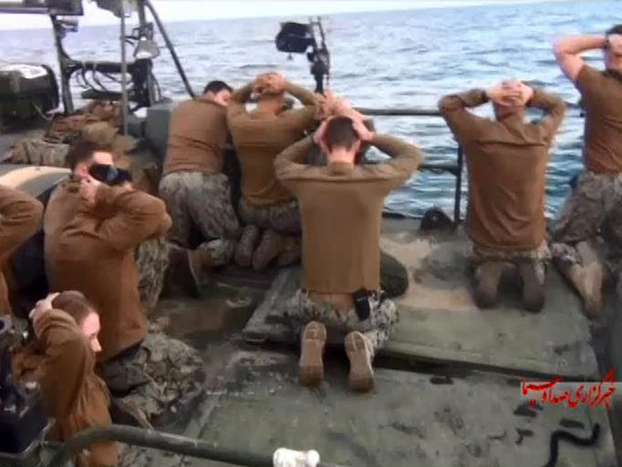 U.S. sailors held by the Iranian Revolutionary Guards