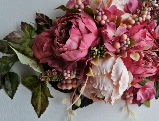 Wedding Centerpiece Flowers Arrangement Centerpiece Silk Wedding Flowers Peonies Centerpiece Wedding Decor Flowers 2607878 Weddbook