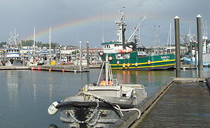 Kodiak Harbor after a storm in July 2009