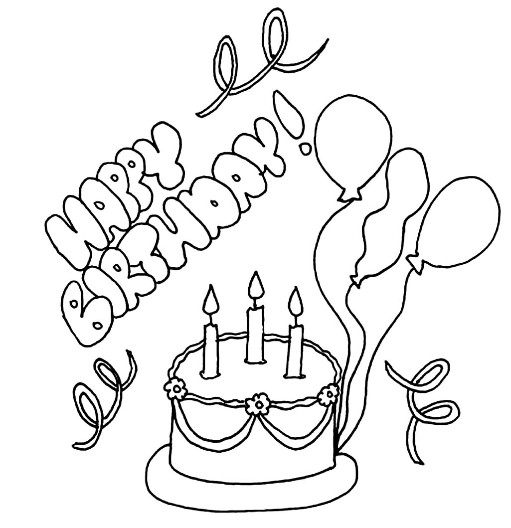 Happy Birthday Sister Coloring Card Coloring Pages