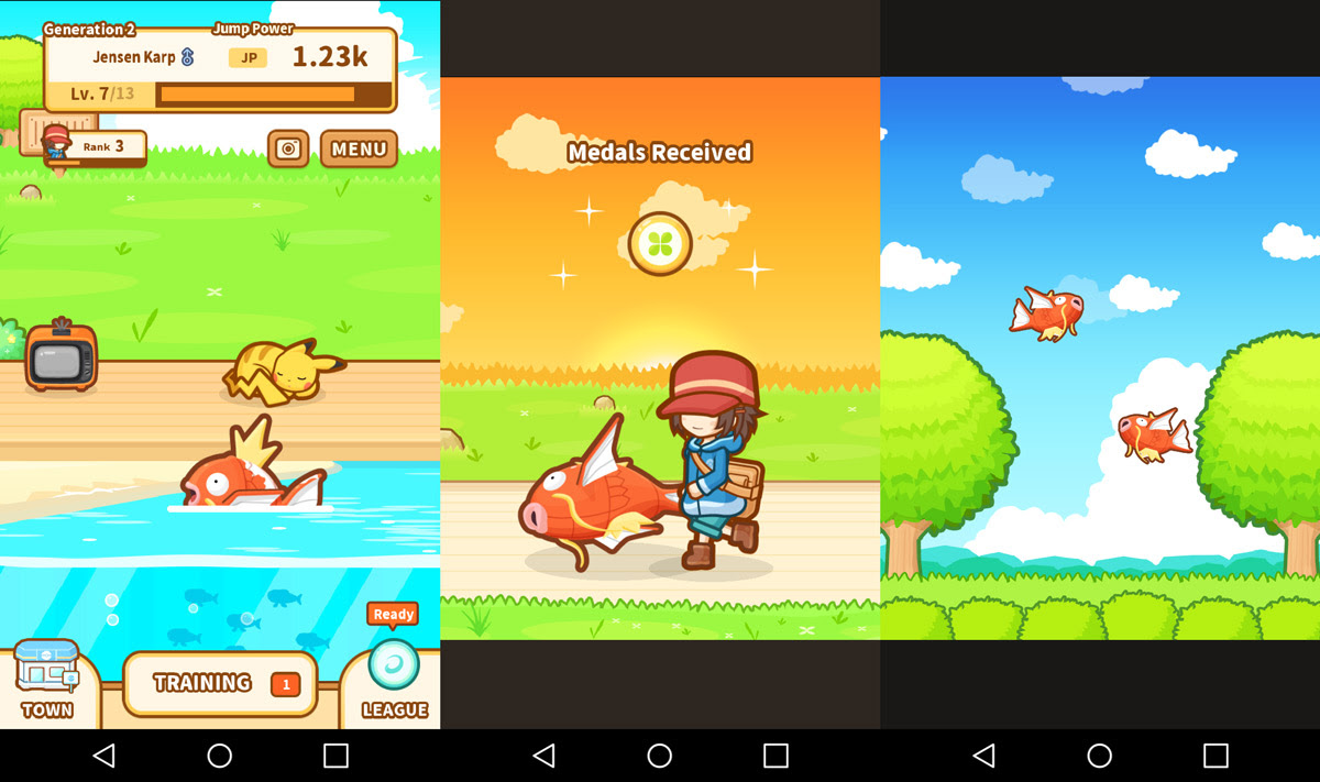 The no-fail guide to having fun with Pokemon: Magikarp Jump screenshot