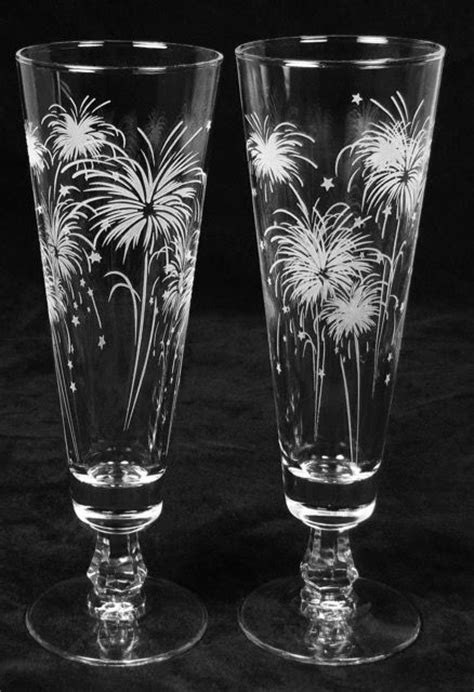 Fireworks Wedding Decor, Personalized Toasting Flutes