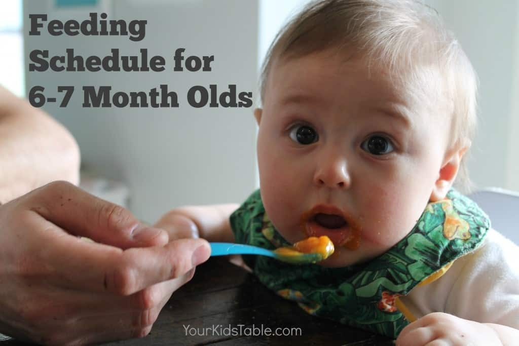 The Best 6 and 7 Month Old Feeding Schedule - So Easy to Follow ...