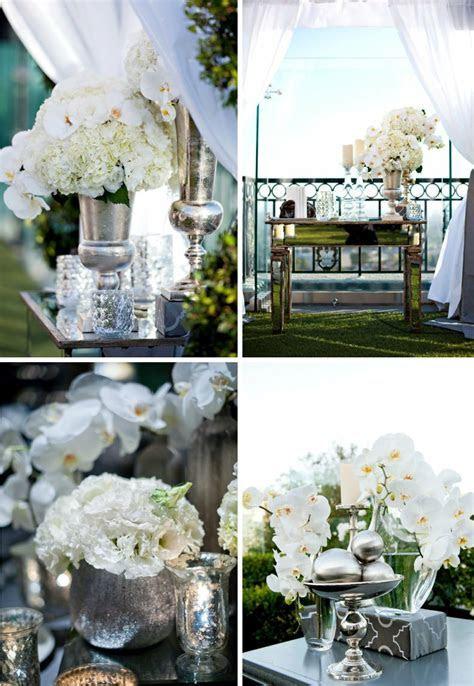 mirrored wedding reception decor elegant venue outdoor