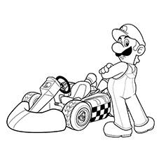 mario kart coloring pages at getdrawings  free download