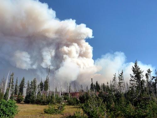 Fire West of Sisters Oregon by Jack Crossen