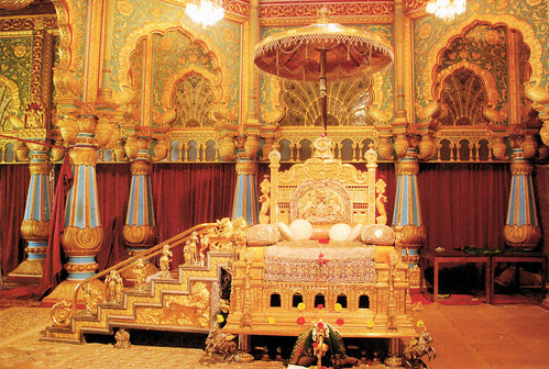 Mysore Palace - Golden Throne