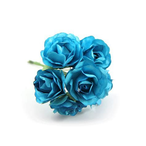 Turquoise Paper Flowers   Paper Craft Flower   Paper Rose