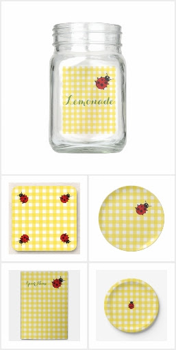 Sunny Gingham with Ladybug Collection