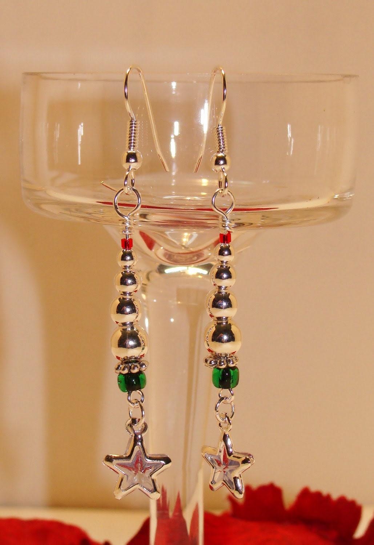 Silvery Christmas Tree Earrings
