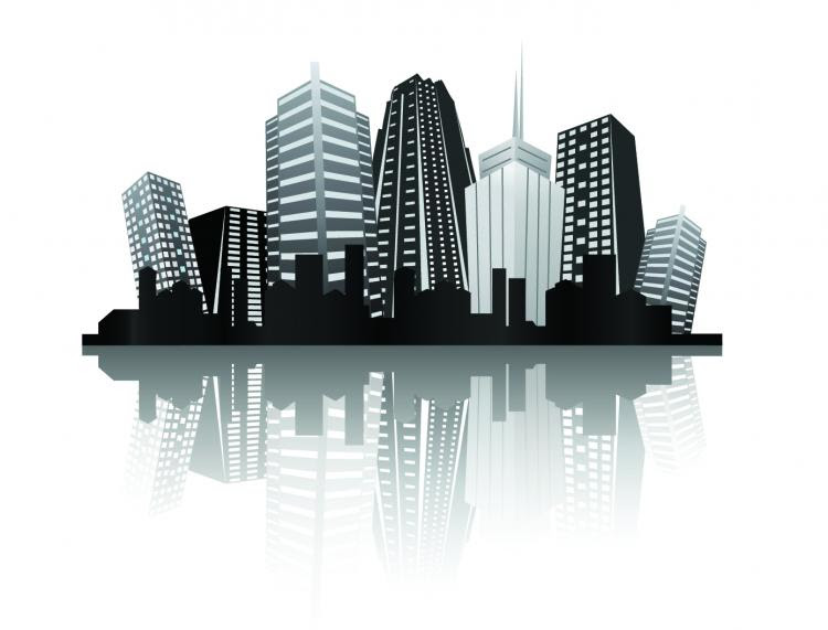 Cool vector silhouette of the city Free Vector / 4Vector