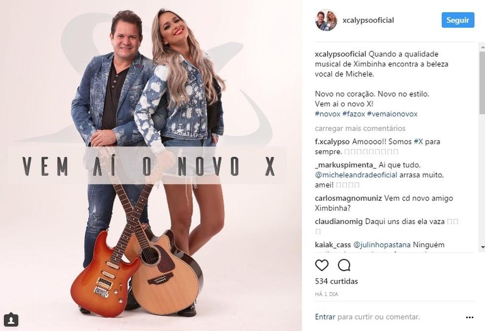 Ximbinha anuncia projeto com a cantora Michele Andrade  (Foto: Reprodução)