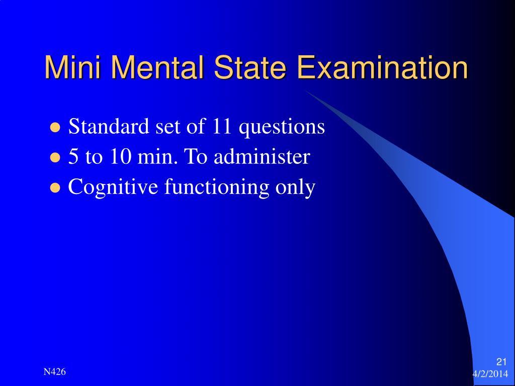PPT - Mental Status Assessment PowerPoint Presentation ...