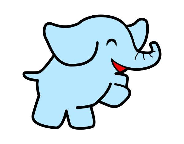Dibujo De Elefantito Pintado Por Mar21 En Dibujosnet El Día 16 03