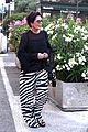kris jenner steps out in zebra print pants in st tropez 03