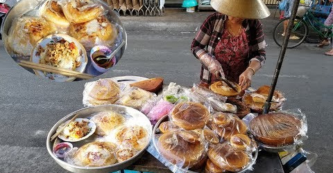 Mê mẩn xe bánh bò, khoai mì, chuối nướng ngon nhất từng được ăn
