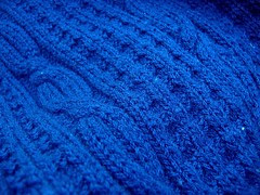 handknit navy vest