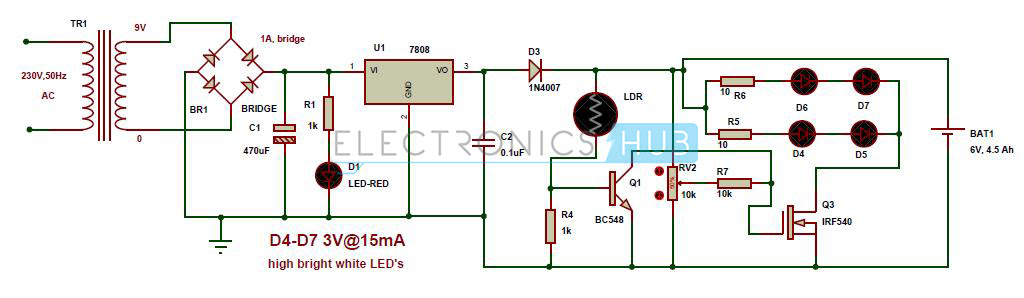 My World My Rules  Automatic Led Emergency Light Circuit