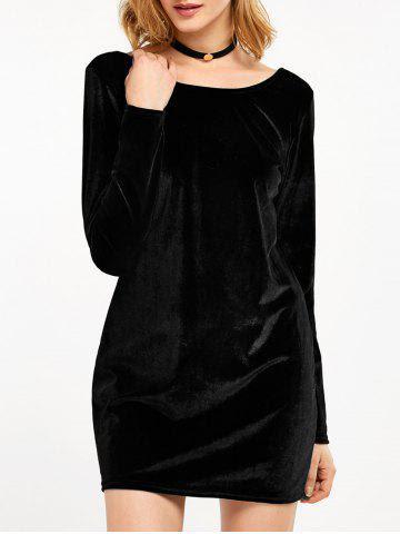 Stores albuquerque black velvet long sleeve bodycon dress easy women voonik