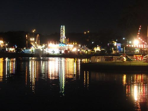 the fair at night