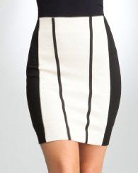 Bebe Gina Ponte Pencil Skirt
