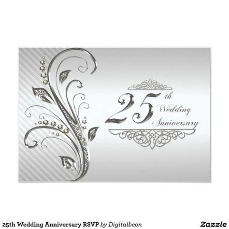 25th Wedding Anniversary RSVP Invitation   Zazzle.com