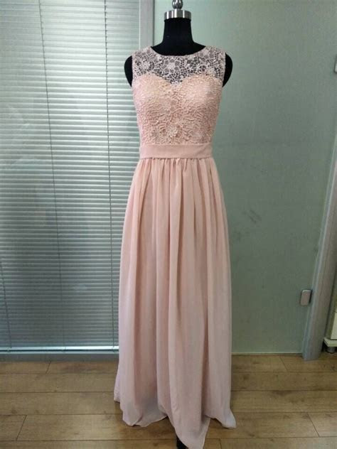 Honey Qiao Bridesmaid Dresses Blush Pink Chiffon Illusion