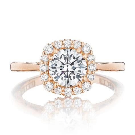 tacori engagement rings pretty  pink rose gold