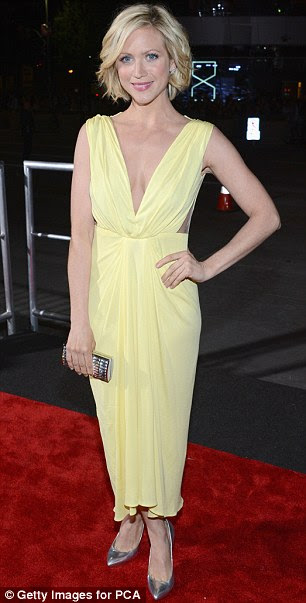 Mellow yellow: Big Bang Theory star Melissa Rauch was pretty as a buttercup while Brittany Snow rocked in primrose
