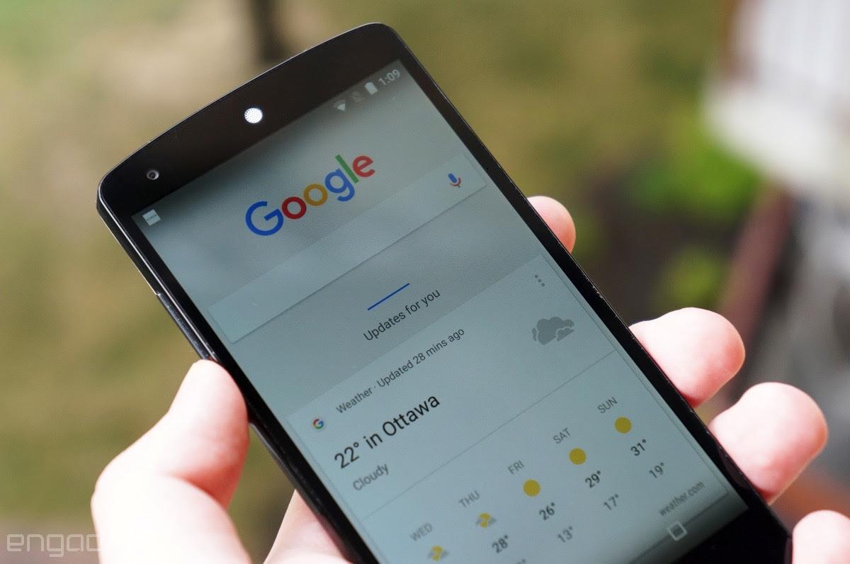 Google Now redesign