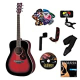 Yamaha FG720S Dusk Sun Red Acoustic Guitar BUNDLE w/Legacy Accessory Kit (Tuner,DVD and Much More)