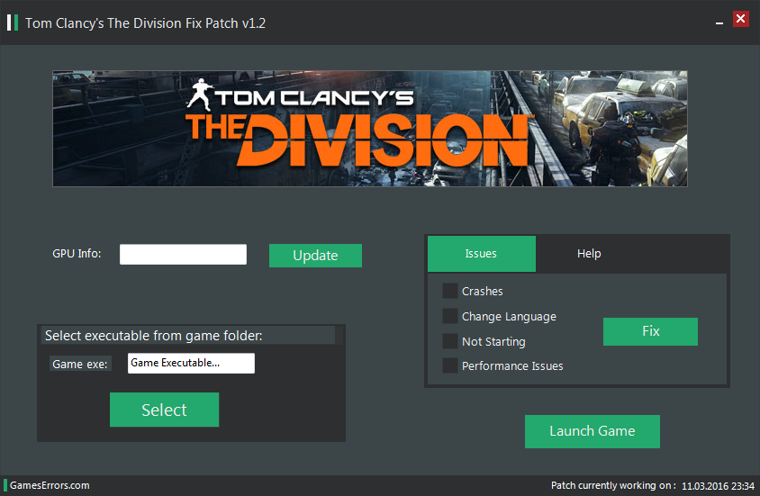 Tom Clancy's The Division Errors Fix Patch