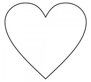 Molde de coração para fazer artesanato