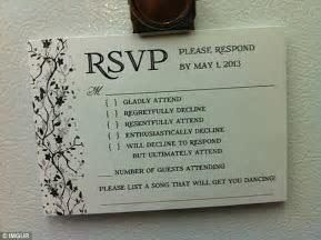 An Australian couple have sent the best wedding RSVP card