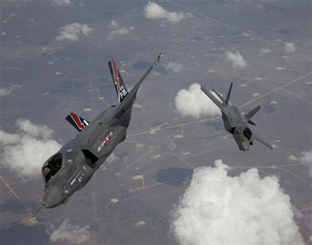 File photo of the F-35 Lightning II planes arriving at Edwards Air Force Base in California