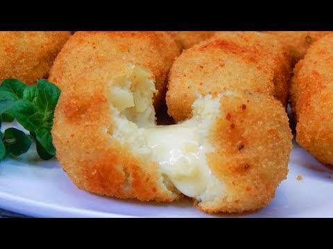 Γεμιστοί πατατοκεφτέδες με τυρί (Βίντεο)