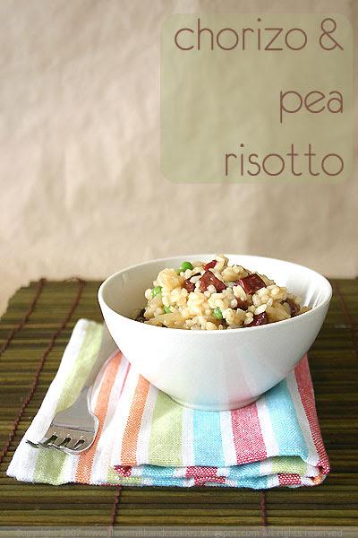 Chorizo and Pea Risotto